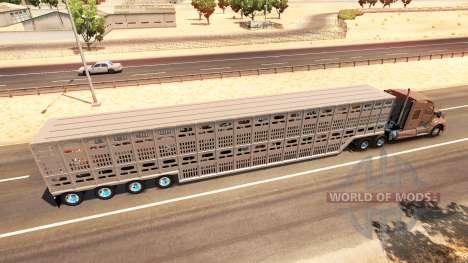 Die Tier-transport-Auflieger für American Truck Simulator