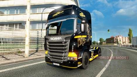 Al Capone de la peau pour Scania camion pour Euro Truck Simulator 2