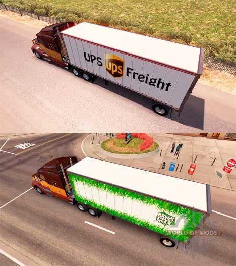 Anhänger-UPS und Grüne Stadt für American Truck Simulator