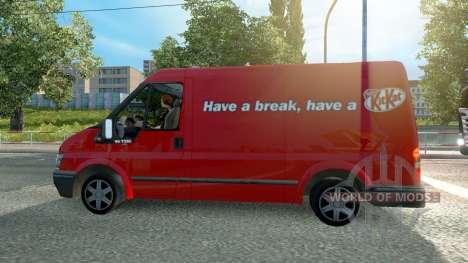 Ford Transit KitKat für Euro Truck Simulator 2