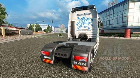 Haut Bayern Express auf dem LKW MAN für Euro Truck Simulator 2