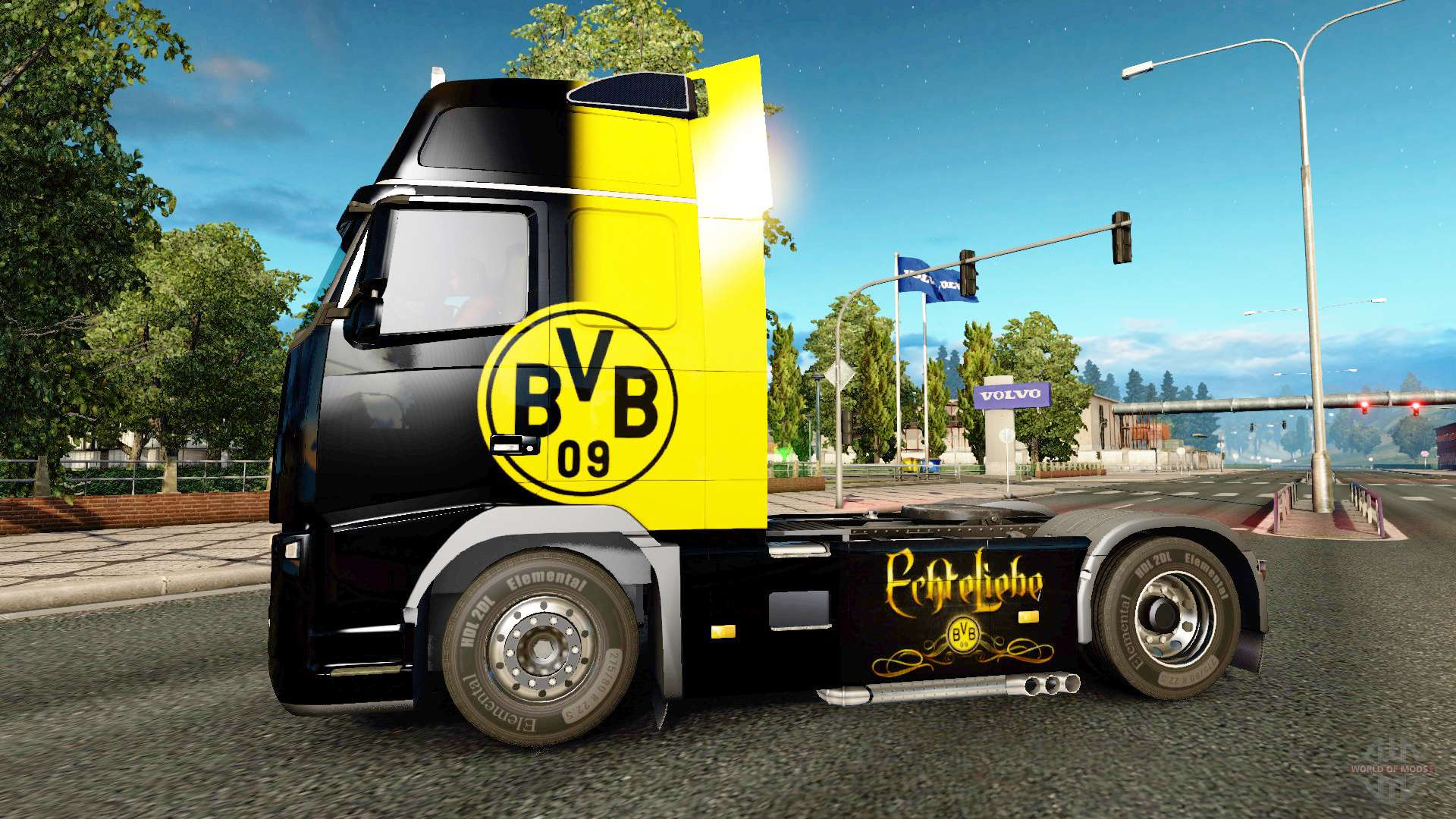 bvb skin f r volvo lkw f r euro truck simulator 2. Black Bedroom Furniture Sets. Home Design Ideas