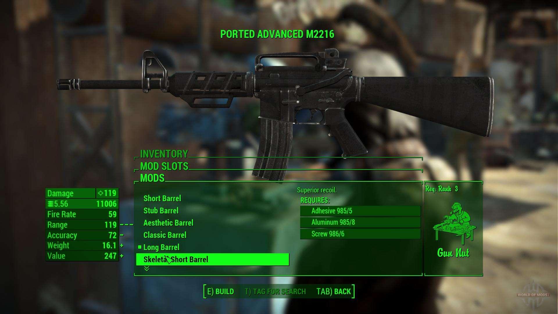 Sturmgewehr M226 F 252 R Fallout 4