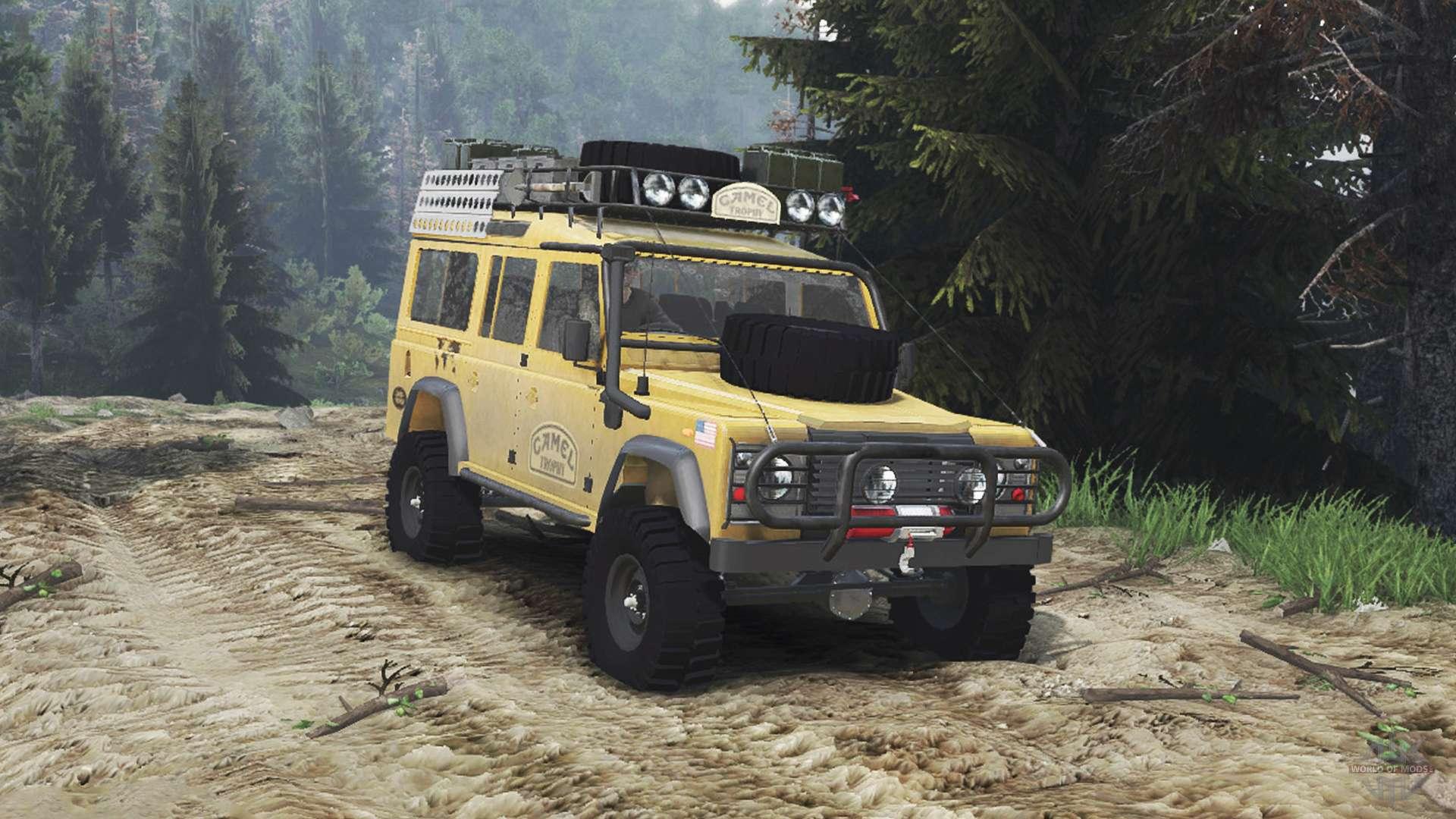 Land Rover Defender 110 Camel Trophy 25 12 15 Pour Spin Tires
