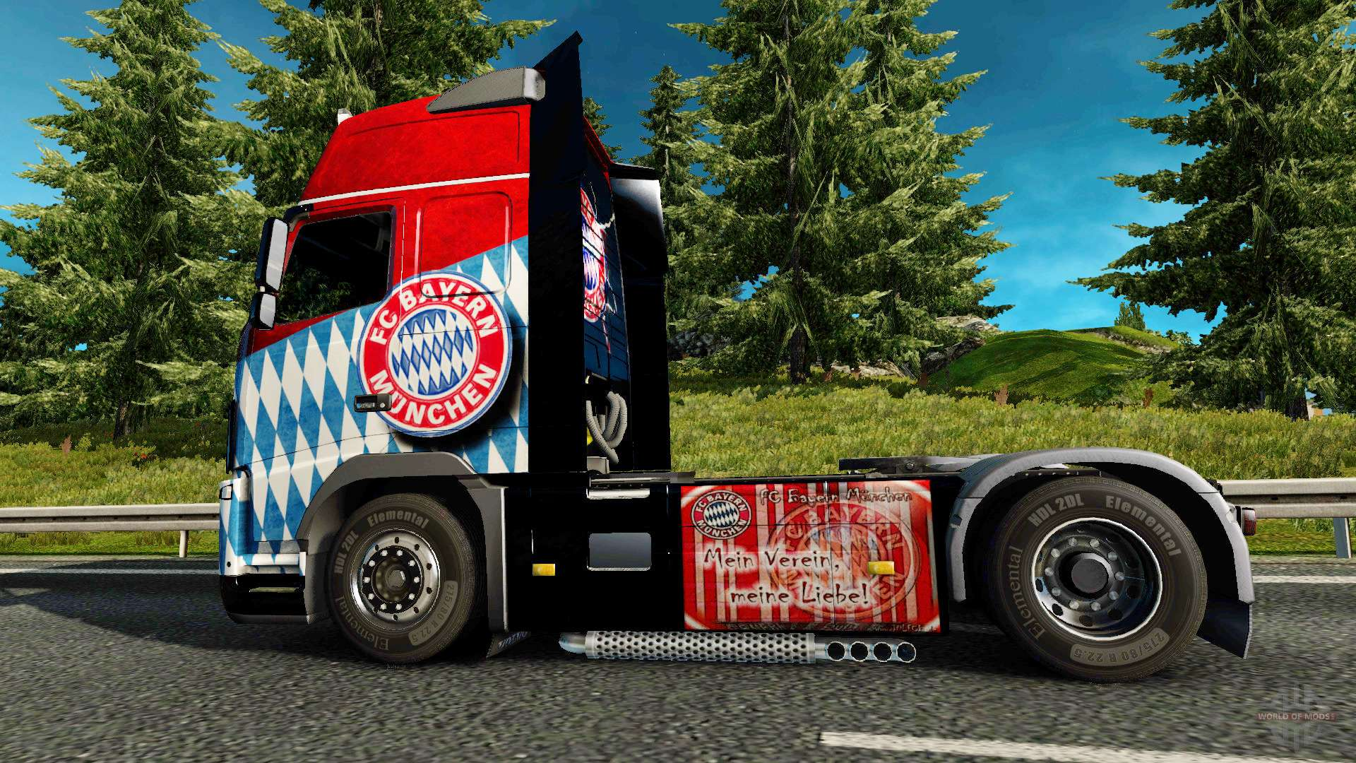 haut den fc bayern m nchen auf einem volvo truck f r euro truck simulator 2. Black Bedroom Furniture Sets. Home Design Ideas