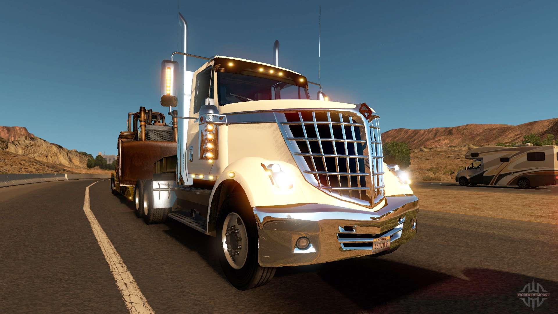International LoneStar dans le trafic pour American Truck ...
