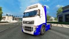 Peau Bleu-Blanc dans la Volvo
