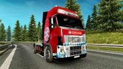 Haut den FC Bayern München auf einem Volvo truck