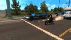 Les motos entre le trafic