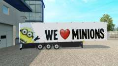Minion-Fan skin v2.0 auf dem semi-trailer