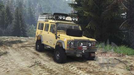 Land Rover Defender 110 Camel Trophy [25.12.15] pour Spin Tires
