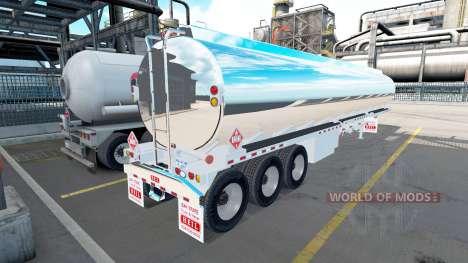 Le chromée réservoir semi-remorque Heil [3 essie pour American Truck Simulator