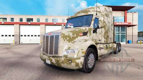 Revêtements de Camouflage pour le Peterbilt et K pour American Truck Simulator