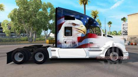 Haut-U. S. A.-Adler auf einem Kenworth-Zugmaschi für American Truck Simulator