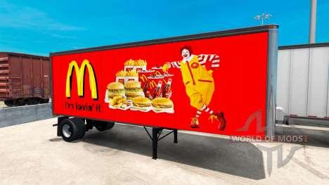 Peaux Américain de la restauration rapide remorq pour American Truck Simulator