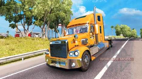 La peau A&W sur le camion Freightliner Coronado pour American Truck Simulator