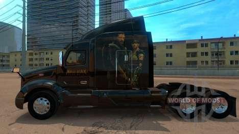 Skin Peterbilt 579 Mad Max pour American Truck Simulator