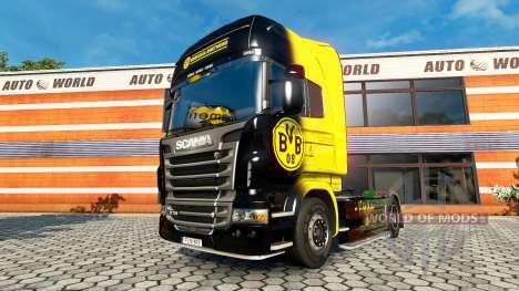 BvB skin für den Scania truck für Euro Truck Simulator 2