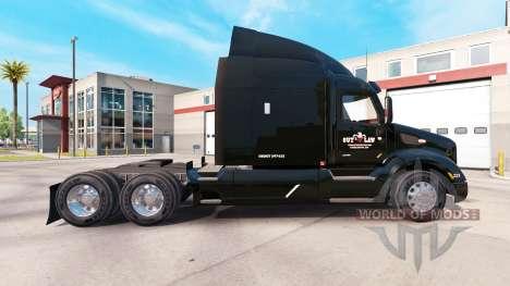La peau des bandes de Transport sur camion Peter pour American Truck Simulator