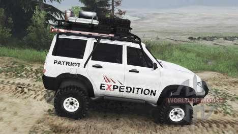 UAZ-3163 dns_event_unknown_service_port Patriot  pour Spin Tires