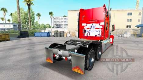 Die Haut auf der Budweiser-Zugmaschine Freightli für American Truck Simulator