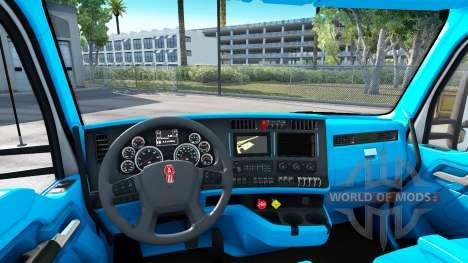 Blaue Kenworth T680 Innenraum für American Truck Simulator