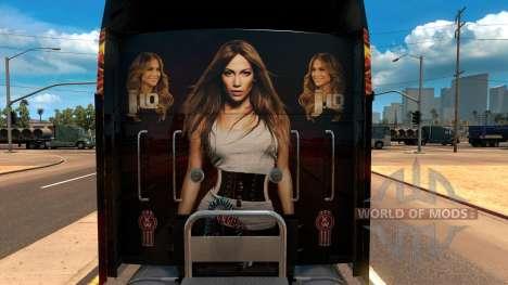 Kenworth W900 Jennifer Lopez Paint Skin für American Truck Simulator
