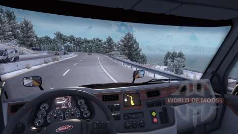 L'hiver mod (Glacial de l'Hiver Mod v1.0) pour American Truck Simulator