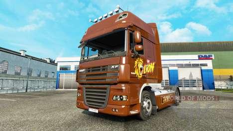 Peau de Lion pour DAF camion pour Euro Truck Simulator 2