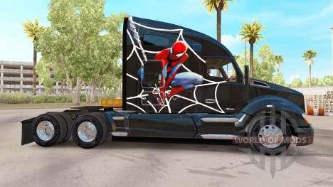 Spiderman peau pour tracteur Kenworth pour American Truck Simulator