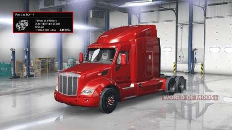 Moteur de 720 CH pour American Truck Simulator