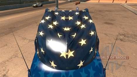 Captain America de la peau pour le camion Peterb pour American Truck Simulator