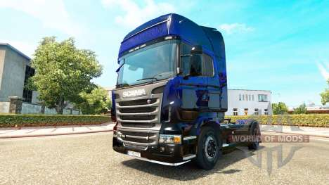 Blue Scorpion-skin für den Scania truck für Euro Truck Simulator 2