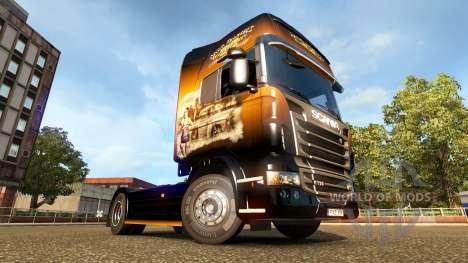 Jack Daniels-skin für den Scania truck für Euro Truck Simulator 2