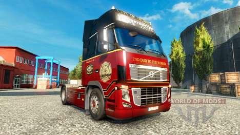 Le Orlando Service d'Incendie de peaux pour Volv pour Euro Truck Simulator 2