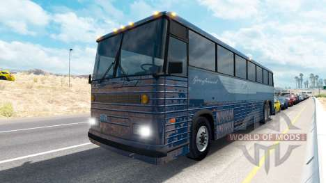 La peau sur les bus Greyhound pour American Truck Simulator