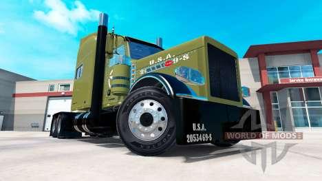 USA Army skin für Peterbilt 389-LKW für American Truck Simulator