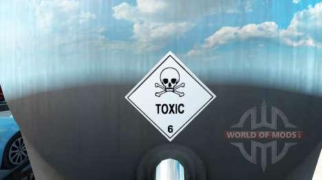 Les signes de marchandises dangereuses pour American Truck Simulator