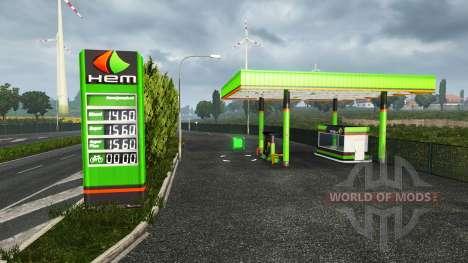 European petrol station für Euro Truck Simulator 2