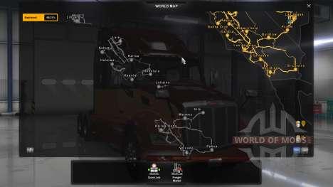 Karte Von Hawaii für American Truck Simulator