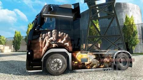 Zombie-skin für den Volvo für Euro Truck Simulator 2