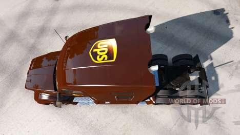 UPS de la peau pour le tracteur Kenworth pour American Truck Simulator