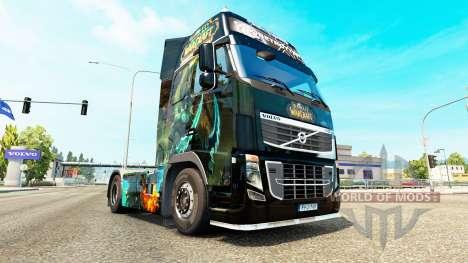 Le Monde de Warcraft peau pour Volvo camion pour Euro Truck Simulator 2