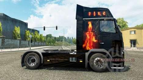 Le feu de la peau pour Volvo camion pour Euro Truck Simulator 2