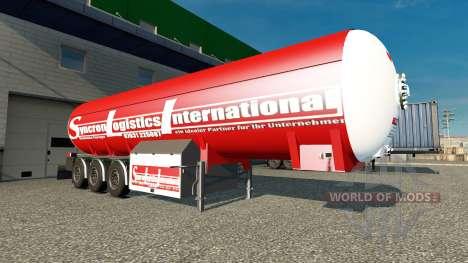Der Trailer Syncron Logistic International für Euro Truck Simulator 2