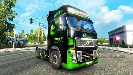 HULK skin für Volvo-LKW für Euro Truck Simulator 2