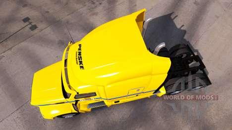 La peau Penske Truck Rental camion Peterbilt pour American Truck Simulator
