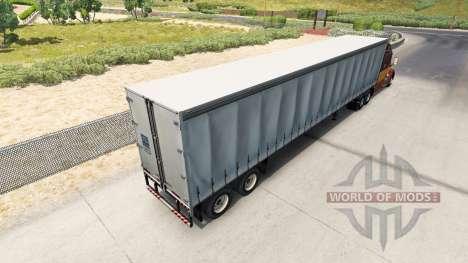 La semi-remorque à rideaux pour American Truck Simulator