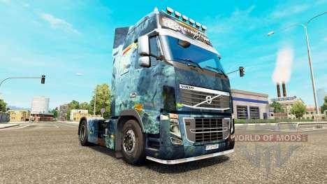 Meeres skin für den Volvo truck für Euro Truck Simulator 2