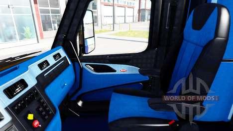 Schwarz und blau Innenraum in einen Peterbilt 57 für American Truck Simulator